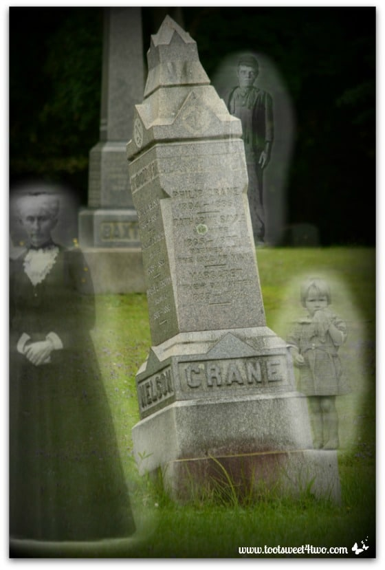 Headstones and Ghostly Apparitions - Zombie Apocalypse