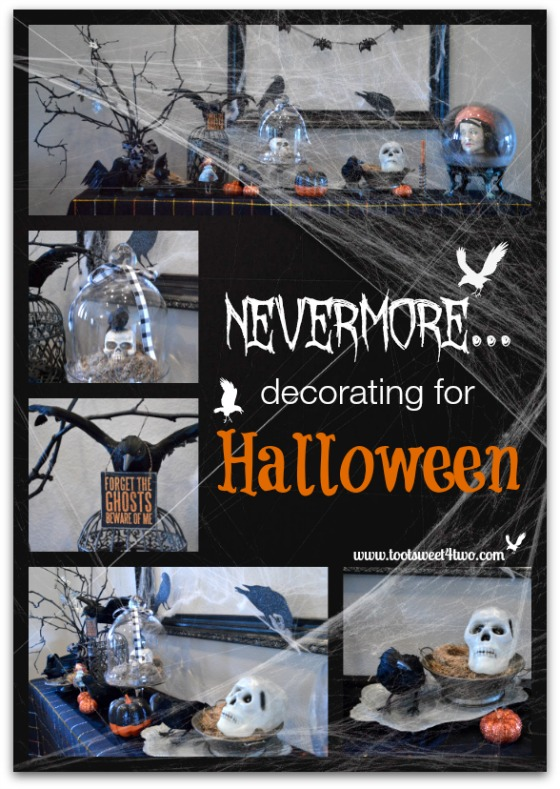 Nevermore Decorating for Halloween Collage