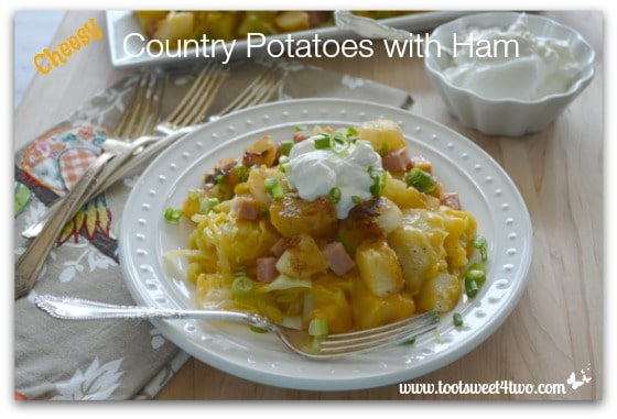 Cheesy Country Potatoes with Ham Pic 1