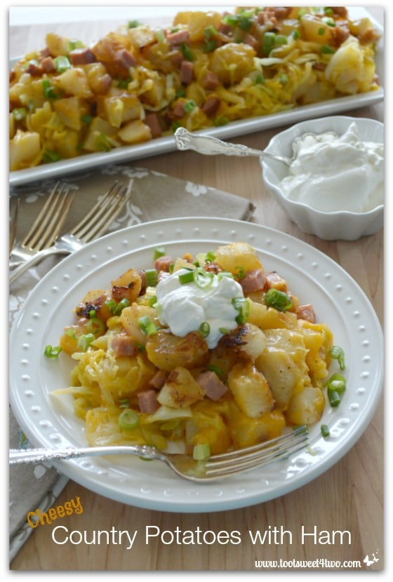 Cheesy Country Potatoes with Ham cover