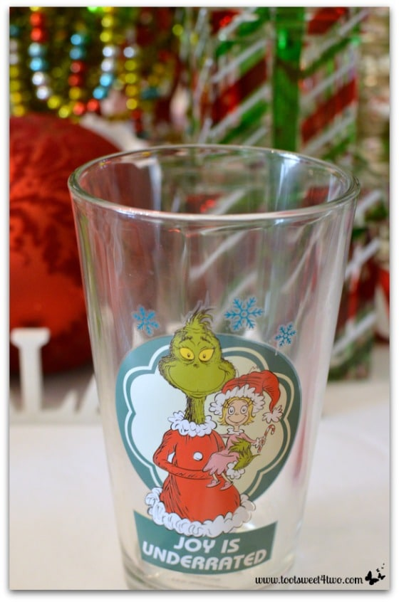 Christmas Grinch glass for the kids