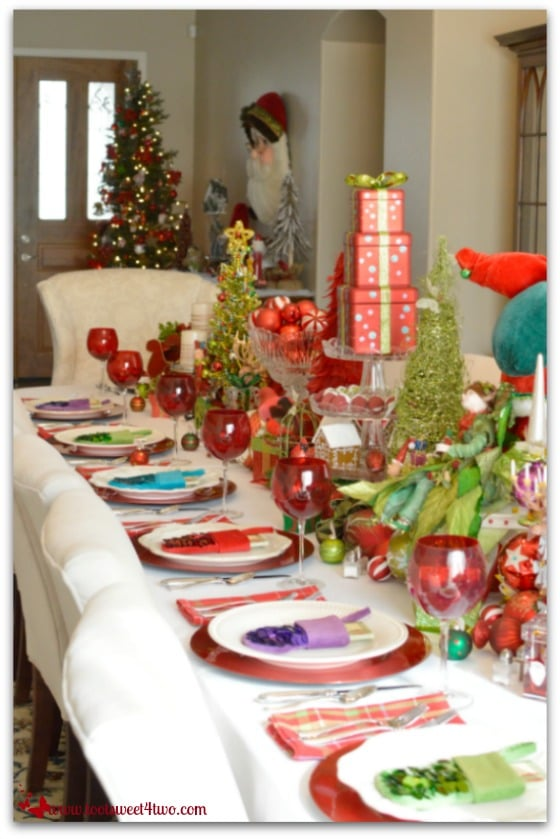 Decorating the Table for a Christmas Celebration