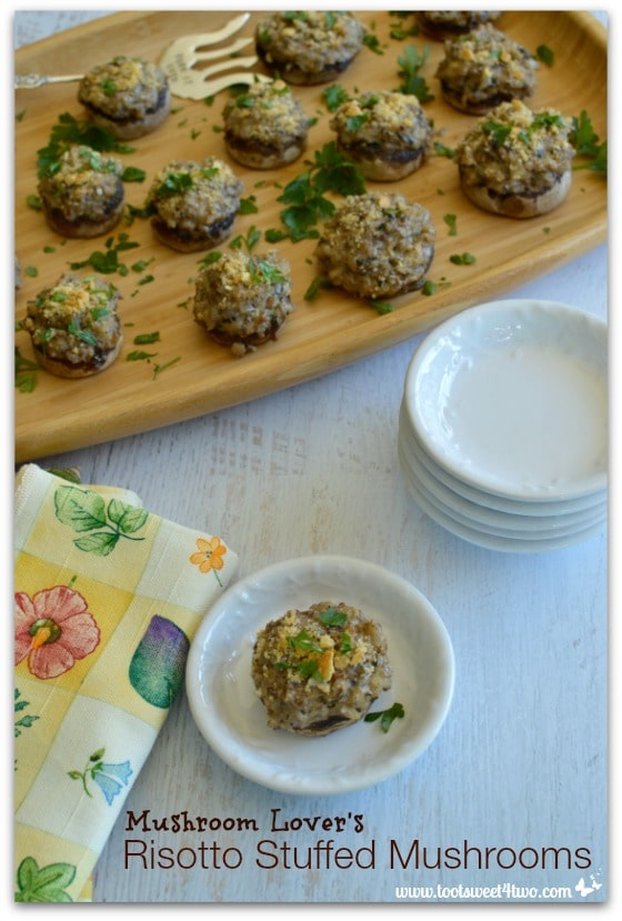 Mushroom Lover's Risotto Stuffed Mushrooms - Pic 1