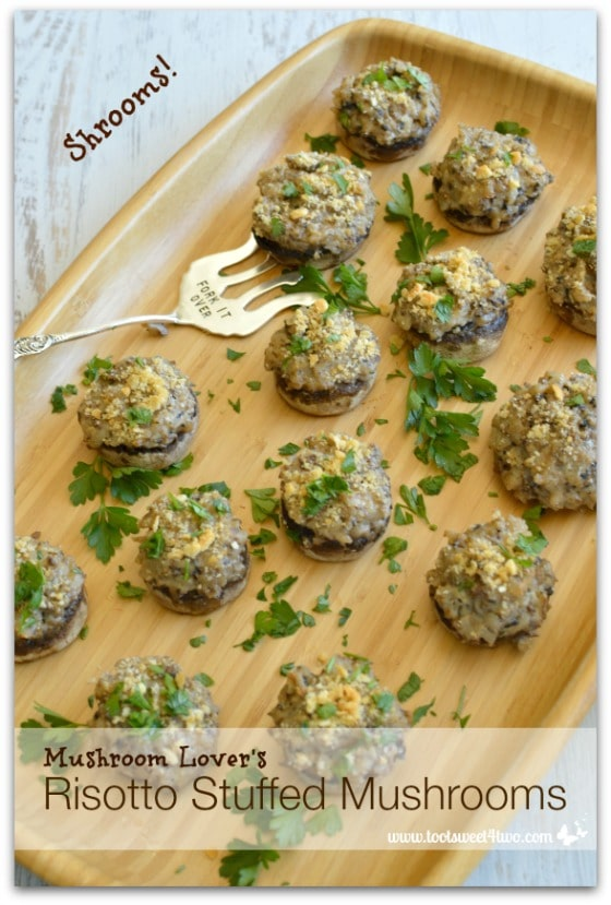 Mushroom Lover's Risotto Stuffed Mushrooms - Pic 4