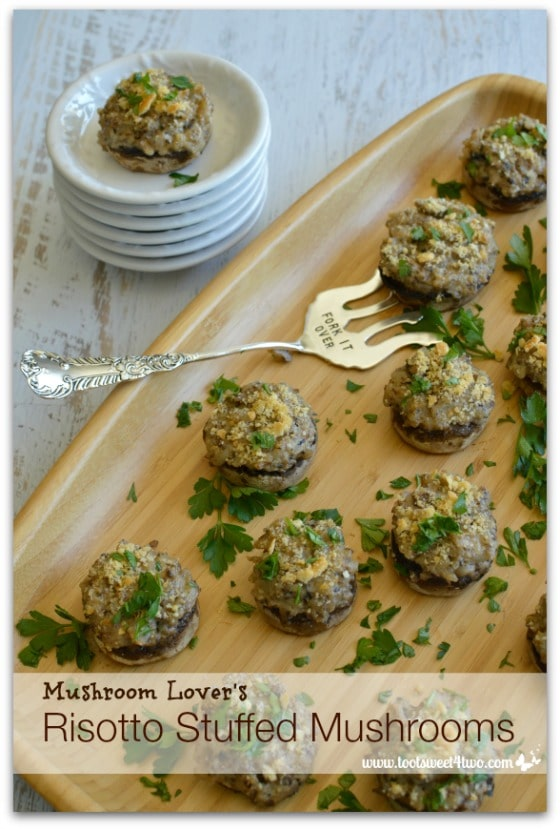 Mushroom Lover's Risotto Stuffed Mushrooms - Pic 5