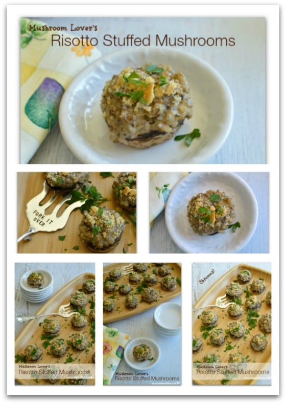 Mushroom Lover's Risotto Stuffed Mushrooms Pinterest