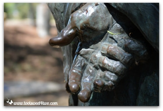 The Padre's hands, Presidio Park, San Diego