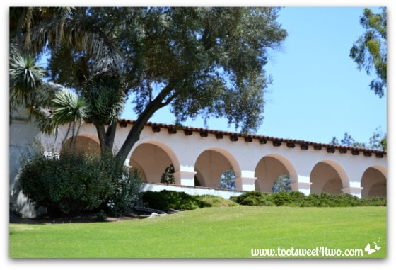 View of the portico, Serra Museum, Presidio Park, San Diego