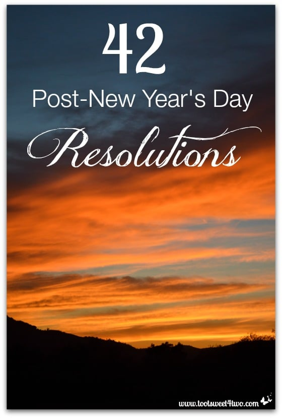 42 Post-New Year's Day Resolutions cover