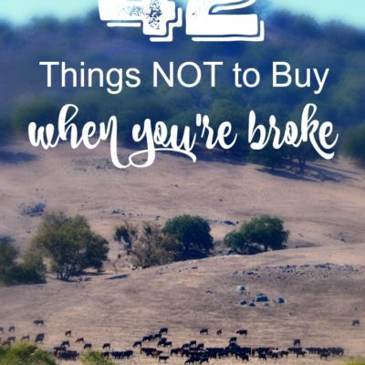 42 Things NOT to Buy When You're Broke