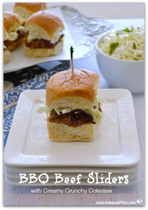 BBQ Beef Sliders with Creamy Crunchy Coleslaw - 21 Great