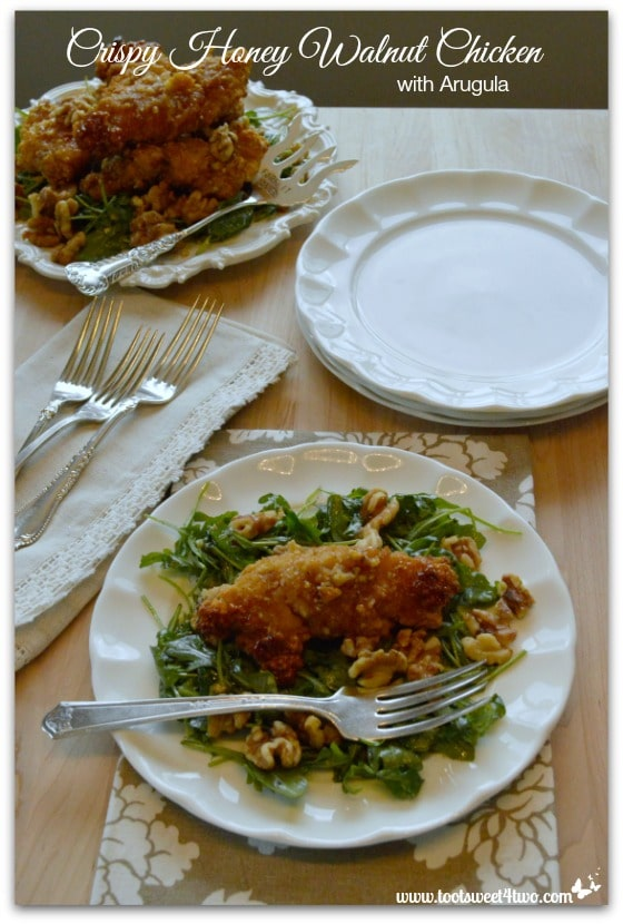 Crispy Honey Walnut Chicken with Arugula Pic 1