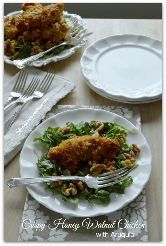 Crispy Honey Walnut Chicken with Arugula Pic 6