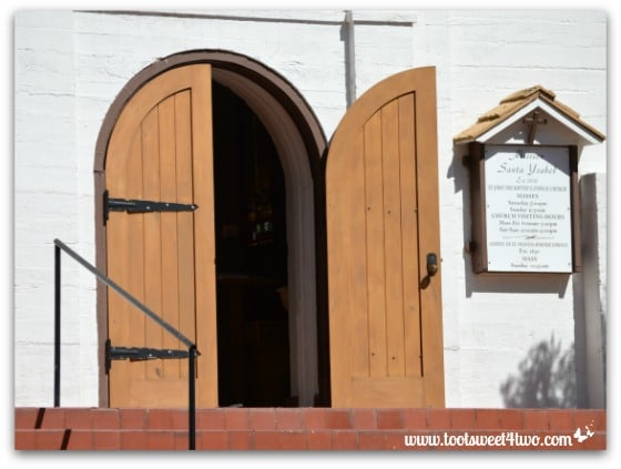 Front door of Mission Santa Ysabel