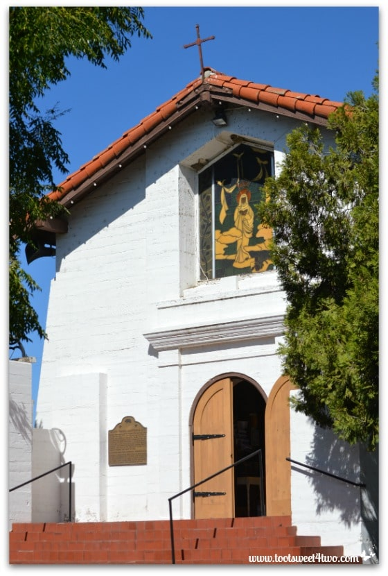 Front view of St. John the Baptist Catholic Church - Mission Santa Ysabel