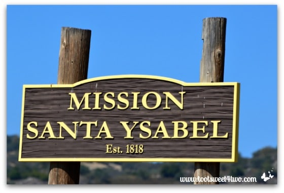 Mission Santa Ysabel sign