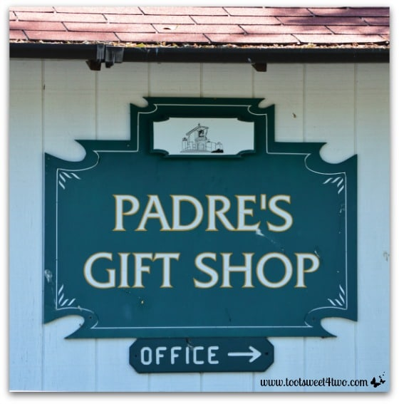 Padre's Gift Shop sign - Mission Santa Ysabel