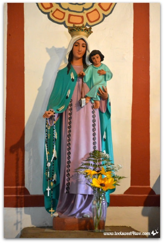 Statue of Mary and baby Jesus in Mission San Antonio de Pala Chapel
