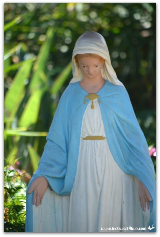 Statue of Mary in the gardens at Mission San Antonio de Pala