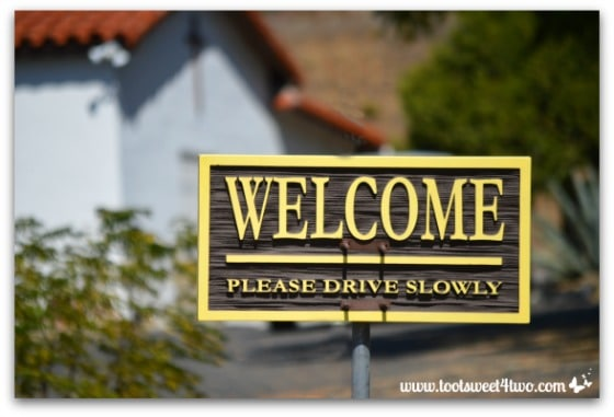 Welcome sign - Mission Santa Ysabel