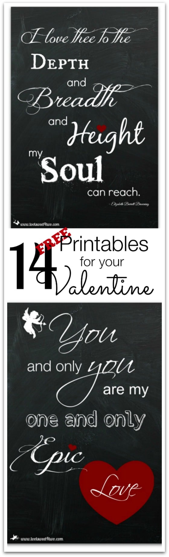 14 FREE Printables for Your Valentine Pinterest