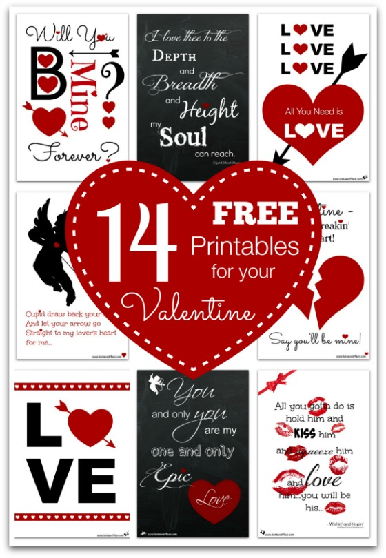 14 FREE Printables for Your Valentine cover