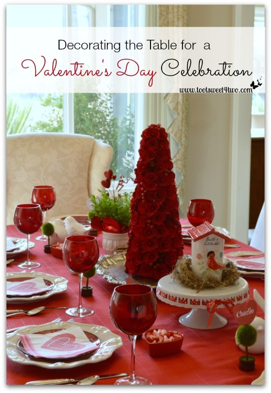 Decorating the Table for a Valentine's Day Celebration