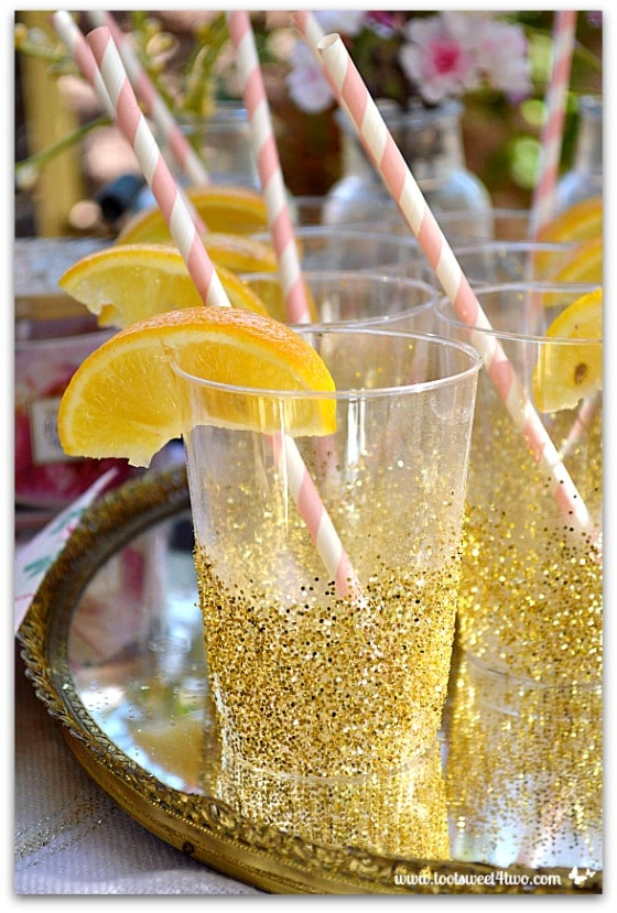 Easy Party Glitter Cups