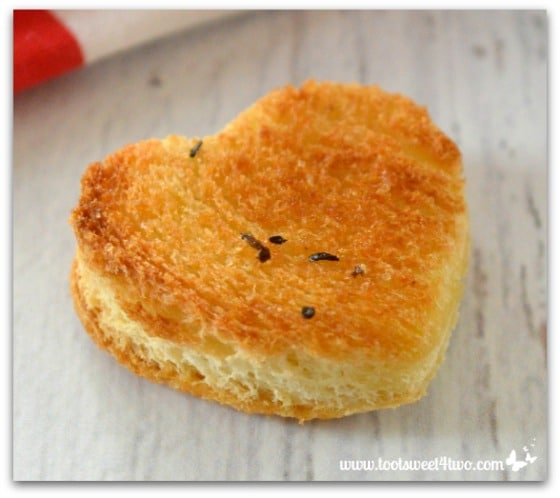 Heart-shaped crouton for Sweetheart Strawberry Salad Pic 4