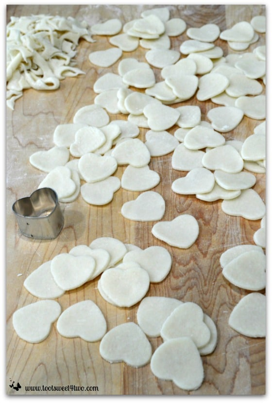 Pie crust hearts cut out