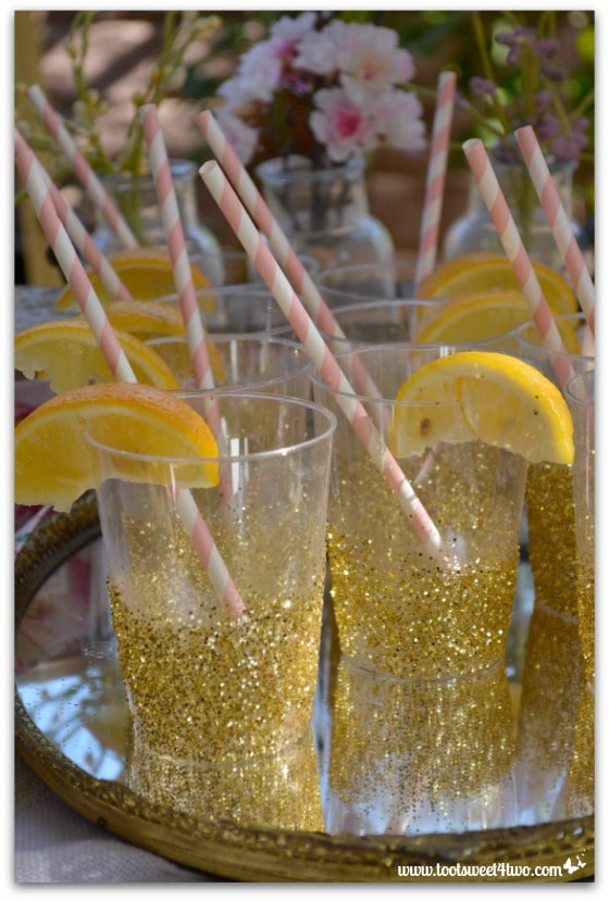Sparkly drinking cups - Baby Turns One