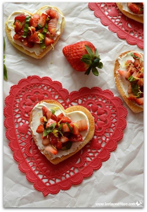 Sweetheart Strawberry Crostini Pic 2
