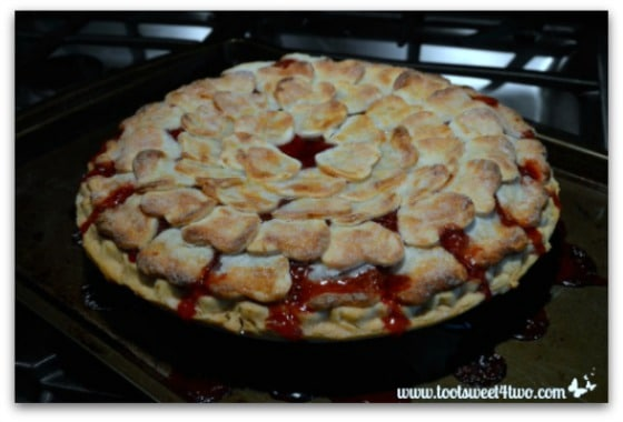 Sweetheart Strawberry Pie out of the oven