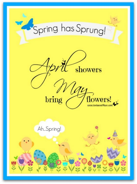 April Showers - 10 FREE Spring and Easter Printables