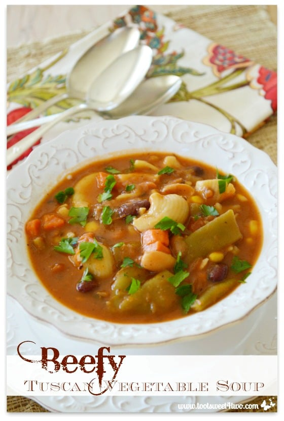 Beefy Tuscan Vegetable Soup - Pot O'Gold