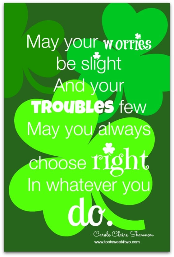 Choose Right - 17 Irish Blessings, Proverbs and Toasts