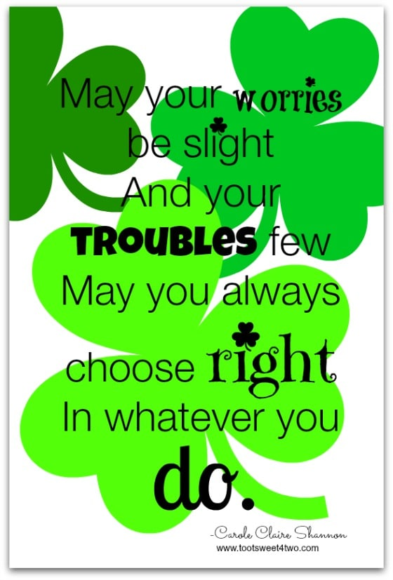 Choose Right White - 17 Irish Blessings, Proverbs and Toasts