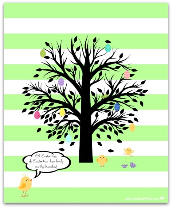 Oh Easter Tree - 10 FREE Spring and Easter Printables