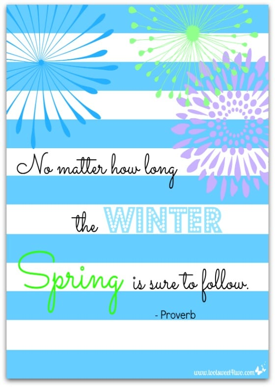Spring Proverb - 10 FREE Spring and Easter Printables