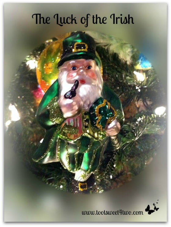 The Luck of the Irish ornament - 17 Irish Blessings, Proverbs and Toasts