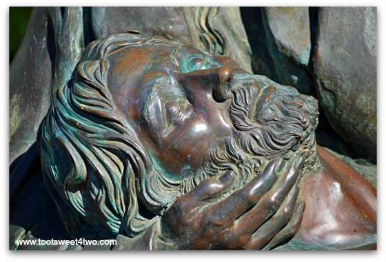 The Face of Jesus - The Pieta at San Diego Mission de Acala