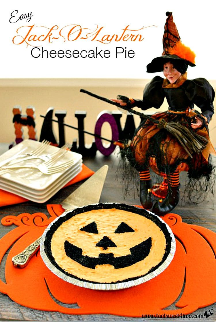 Easy Jack-O-Lantern Cheesecake cover - decorating hack