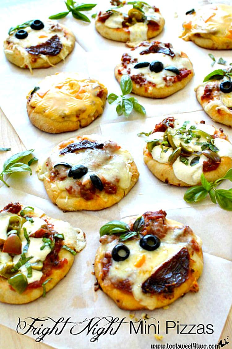 Fright Night Mini Pizzas cover - decorating hacks
