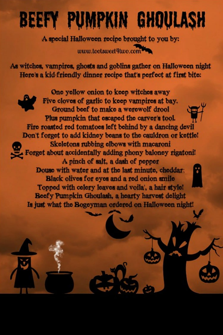 Beefy Pumpkin Ghoulash poem 750x1128