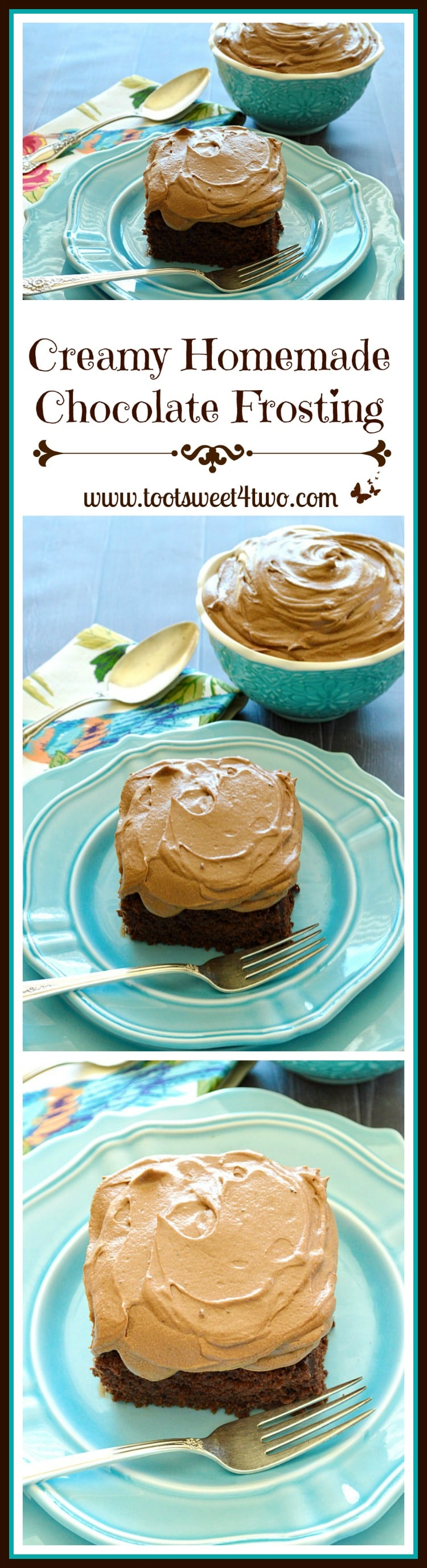 Creamy Homemade Chocolate Frosting Pinterest