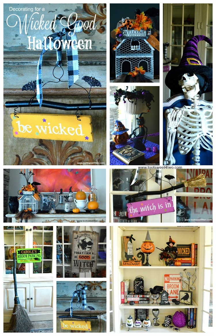 Decorating for a Wicked Good Halloween Pinterest collage