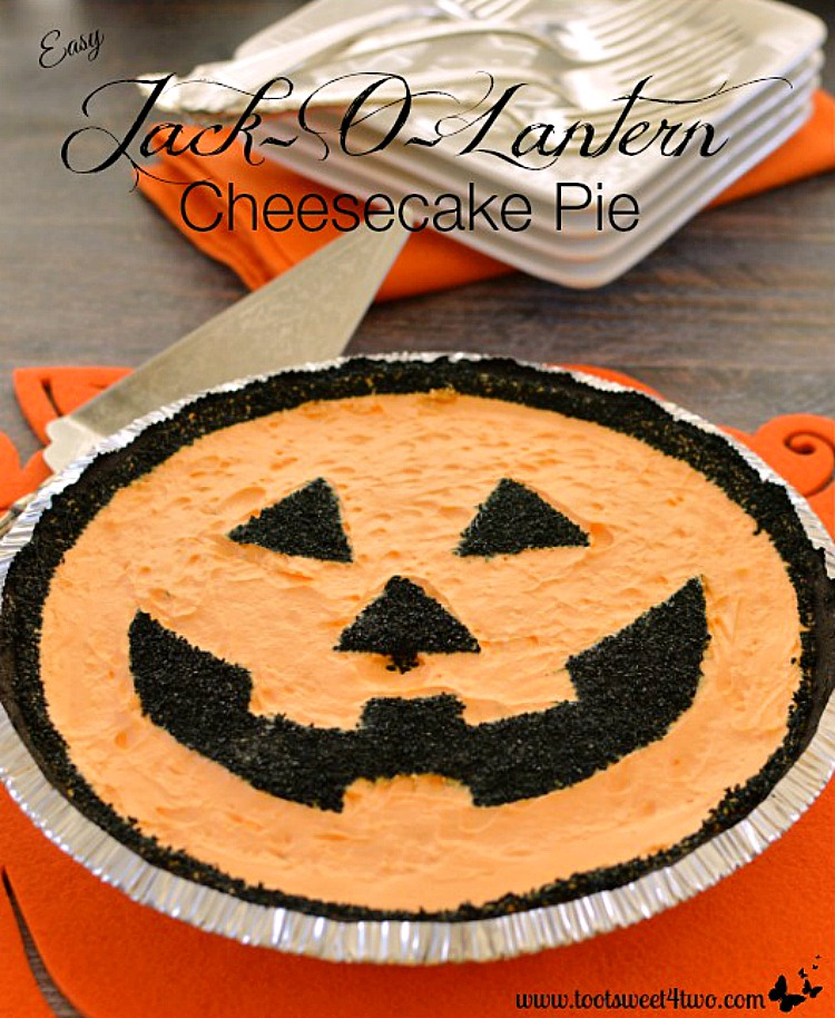 Easy Jack-O-Lantern Cheesecake Pie Pic1A