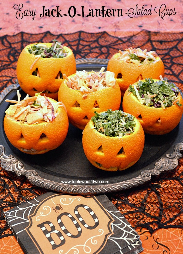 Easy Jack-O-Lantern Salad Cups cover