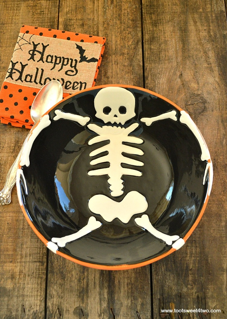 Halloween Skeleton Serving Bowl