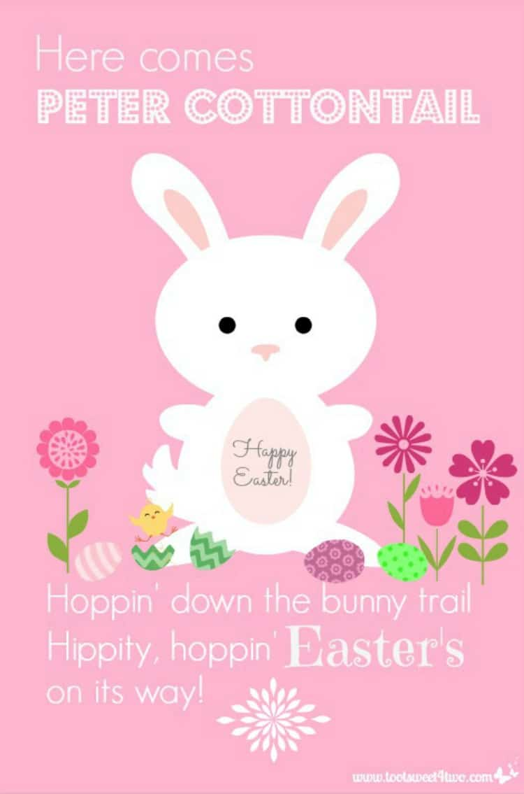 Here Comes Peter Cottontail - A PicMonkey Tutorial 750x1135